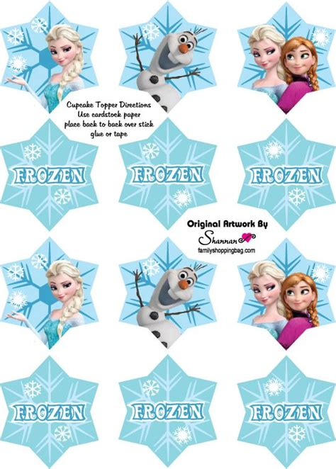 printable frozen toppers 12 free frozen party printables invites decorations