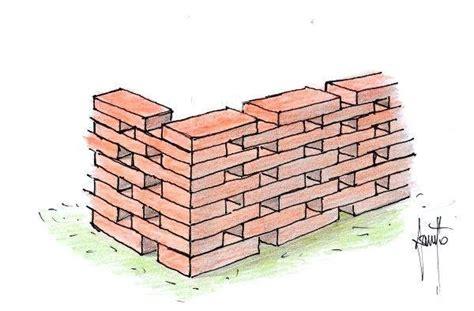 mattoni per terrazzo schemi di posa dei mattoni per la costruzione di muretti