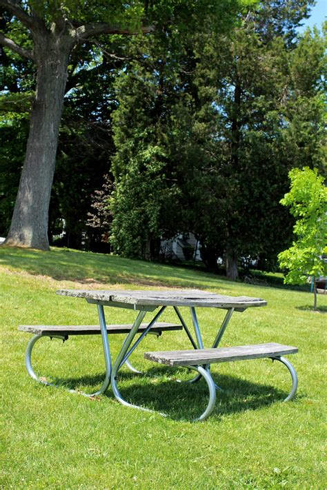 bench slope picnic bench on slope free stock photo public domain
