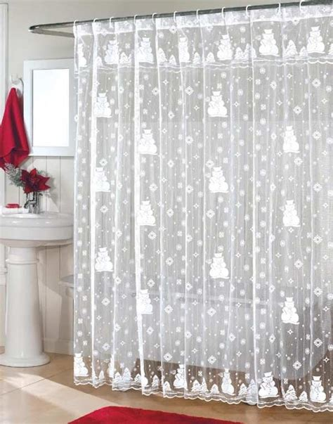 christmas bathroom curtains top 40 beautiful designs of christmas bathroom curtains
