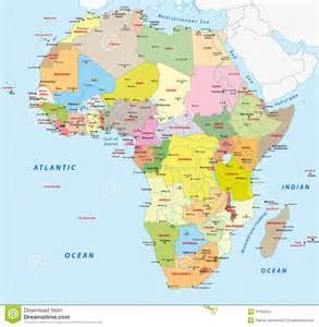 carte politique de l afrique illustration de vecteur