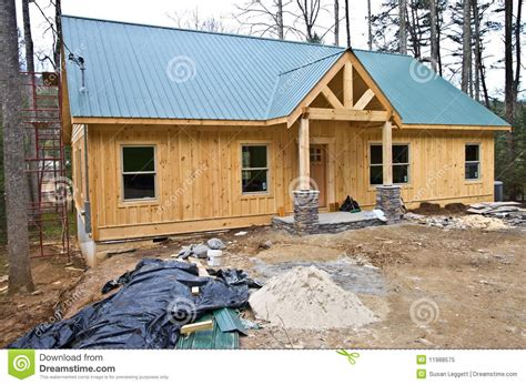 small house construction small house under construction stock image image of