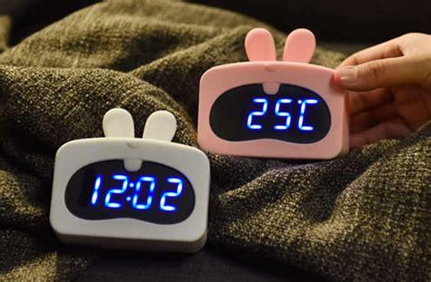 usb cartoon led digital alarm clock feelgift