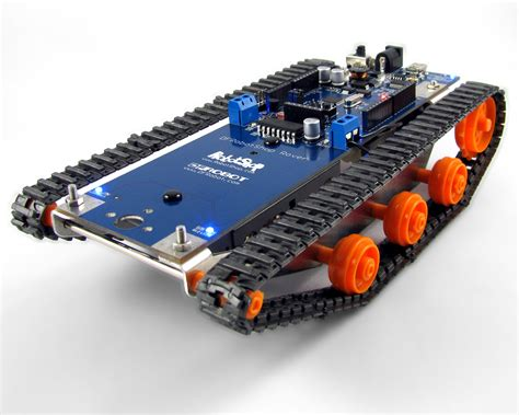 micro on tracks dfrobotshop rover or arduino on tracks robotshop blog