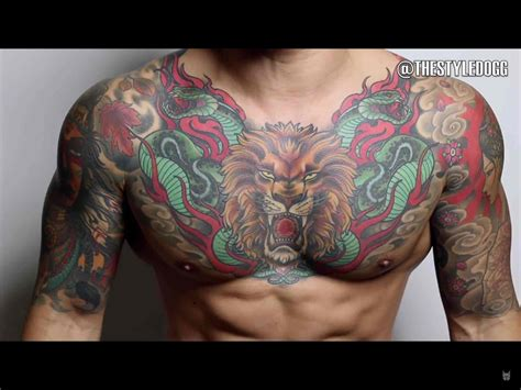 chest piece tattoo designs for men the 100 best chest tattoos for improb