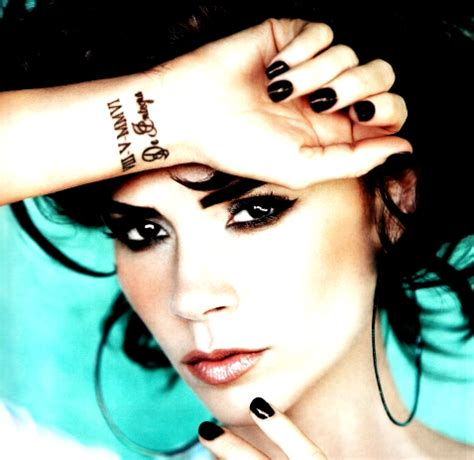 victoria beckham tattoo wrist name tattoos images