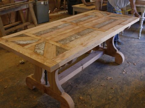 distressed dining room table reclaimed wood table designs