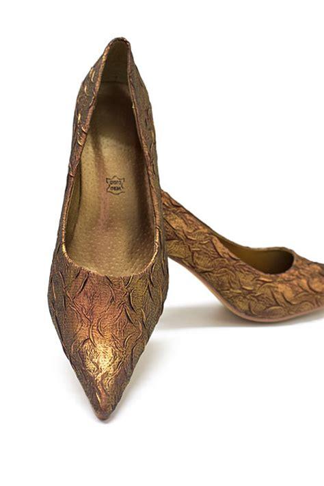 Goldene Hochzeit Schuhe by Brokat Pumps Bronze Abendschuhe Goldene