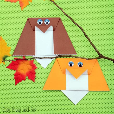 Origami Owl Easy - forest animals origami for easy peasy and