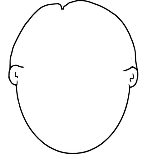 blank face coloring page kindergarten pinterest