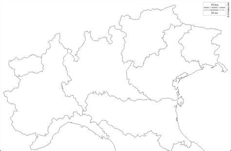 cartina muta italia cartina muta regioni nord italia
