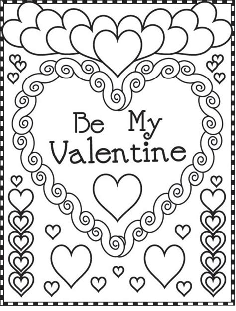 Galerry valentines day coloring pages pdf