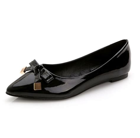 flat shoes designer brand designer s patent leather casual shoes