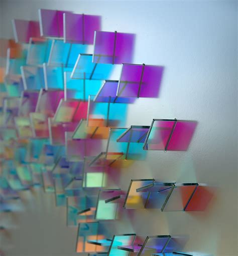 what color is glass geometric dichroic glass installations by chris wood