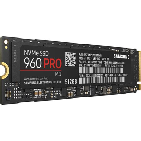 samsung 512gb 960 pro m 2 ssd mz v6p512bw b h photo