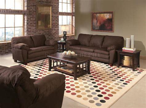 brown micro suede contemporary living room wwooden legs