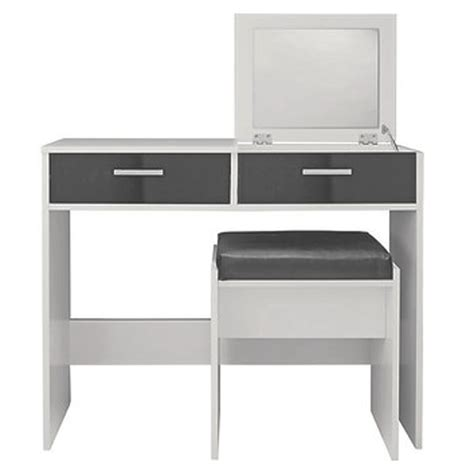 White Or Gray Stool by White Grey Gloss Dresser Mirror Table Stool Bedroom