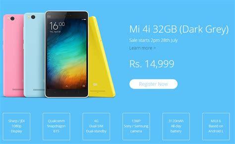 Hp Xiaomi Mi4i 32gb xiaomi mi4i 32gb model officially unveiled on sale from