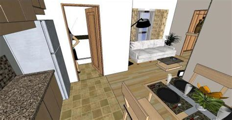contemporary  bedroom condo  skp model  sketchup