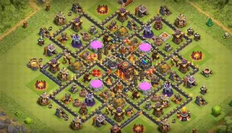 dark elixir protection layout in coc 2017 th8 to th11 farming trophy war base layouts