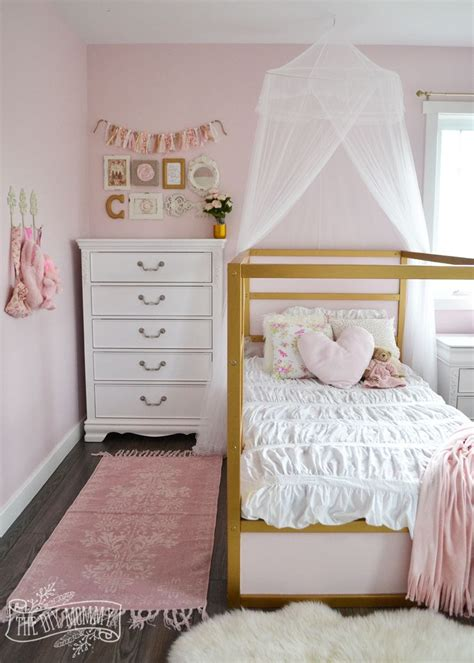pink toddler bedroom ideas a pink white amp gold shabby chic glam girls bedroom 16757 | a22fb8d146dbbb76842cf969363d5b35