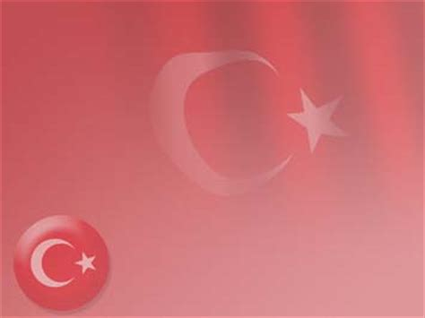Turkey Flag 07 Powerpoint Templates Turkey Powerpoint Template
