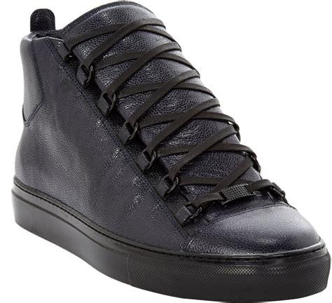 balenciaga high top sneakers balenciaga arena leather high top sneakers in blue for