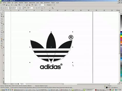 tutorial logo adidas coreldraw tutorial corel x4 logos youtube