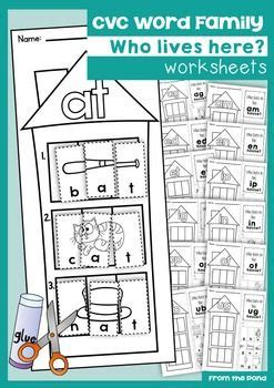 Cvc Word Family Worksheets by Cvc Word Family Worksheets