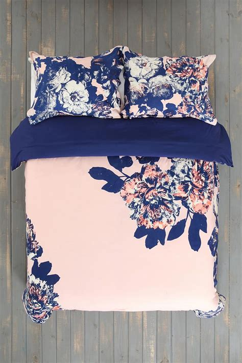 navy blue and pink bedding plum bow corner floral duvet cover love this soooo