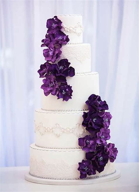 classic purple and white wedding cake with marzipan roses 17 best images about wedding cake ideas on pinterest