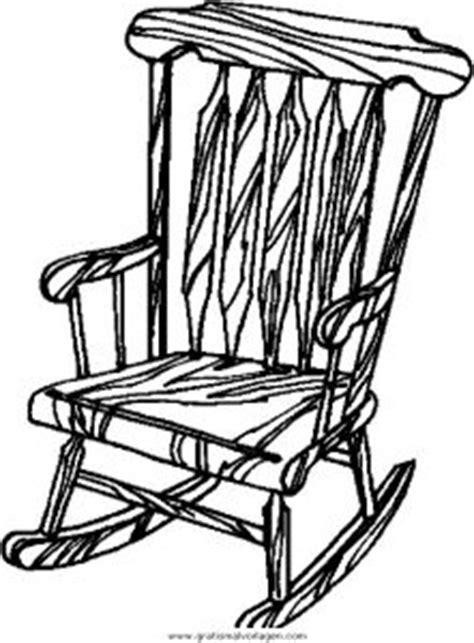 stuhl zum ausmalen schaukelstuhl gratis malvorlage in diverse malvorlagen
