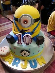 Minions Cake Decorations Minion Themed Fondant Cake Boys Birthday Cake