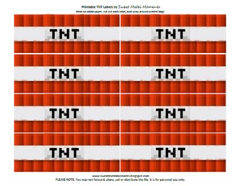 minecraft tnt block template minecraft tnt printable my