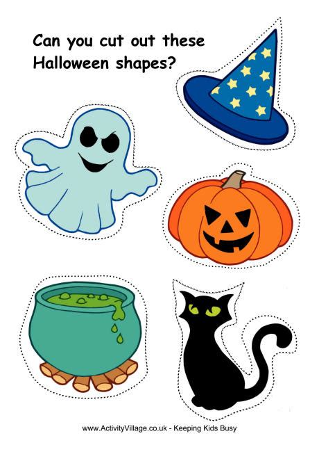 printable halloween shapes cutting shapes worksheets for kindergarten shapes