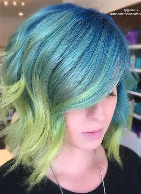 is ombre blue hair ok for older women 100 short hairstyles for women pixie bob undercut hair