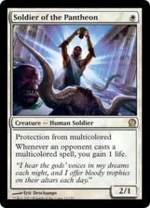 mtg protection from color soldier of the pantheon theros gatherer magic the