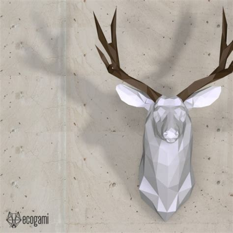 Papercraft Deer - print our pdf template to assemble this