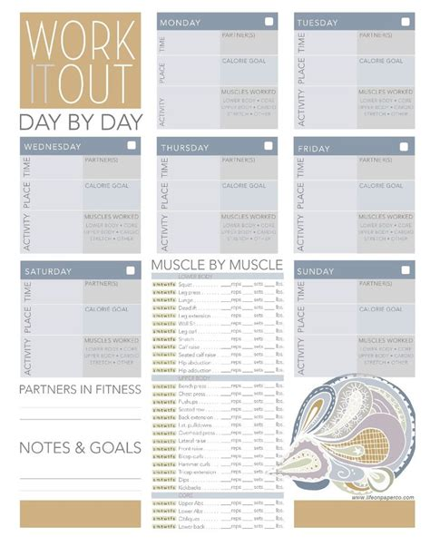 printable diet and exercise planner free worksheets pdf files to help you organize your life