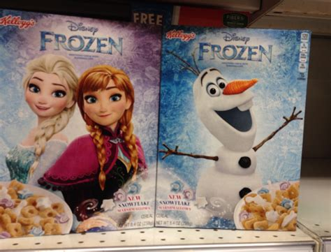film frozen 2016 spooned spotted kellogg s frozen cereal 2016