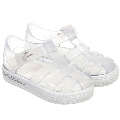 clear jelly sandals dolce gabbana clear white jelly sandals childrensalon