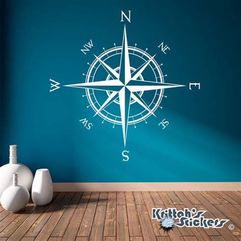 compass vinyl wall or ceiling decal many by