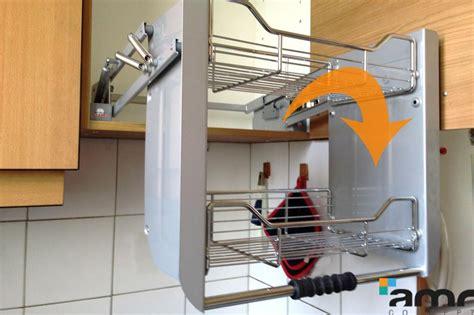 etagere qui monte et descend cuisine hauteur variable manuelle accessible pour personne