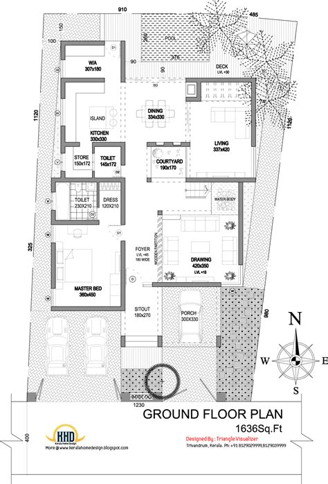 Modern Floor Plans Modern House Elevation 2831 Sq Ft Home Appliance