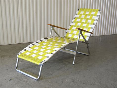 Folding Lawn Chair Lounger by 1960 S Webbed Lawn Chair Folding Chair Lounge By