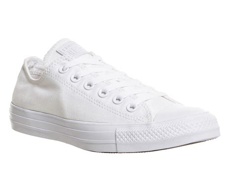 Harga Converse All White converse all low white mono canvas unisex sports