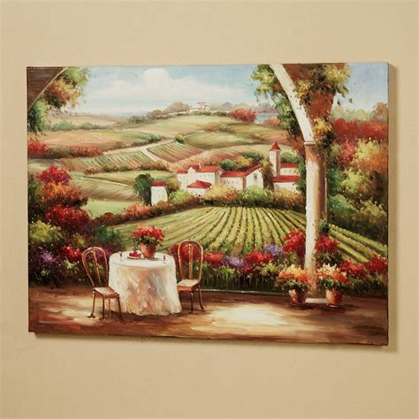 wall paintings vineyard in the valley canvas wall art