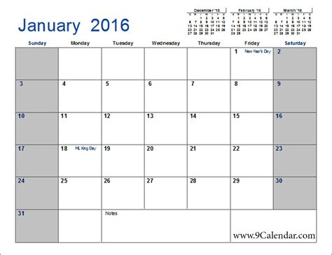 Calendario Excel 2016 February 2016 Calendar Template 2017 Printable Calendar