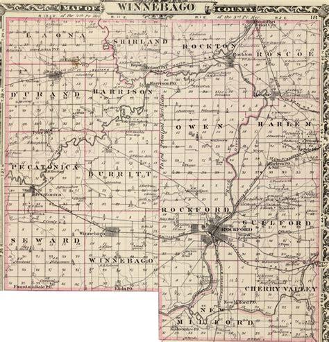 Winnebago County Records Winnebago County Illinois 1876 Historic Map Reprint