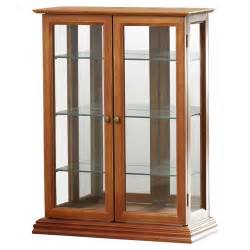 Curio Cabinets Country Charlton Home Country Tuscan Hardwood Wall Curio Cabinet
